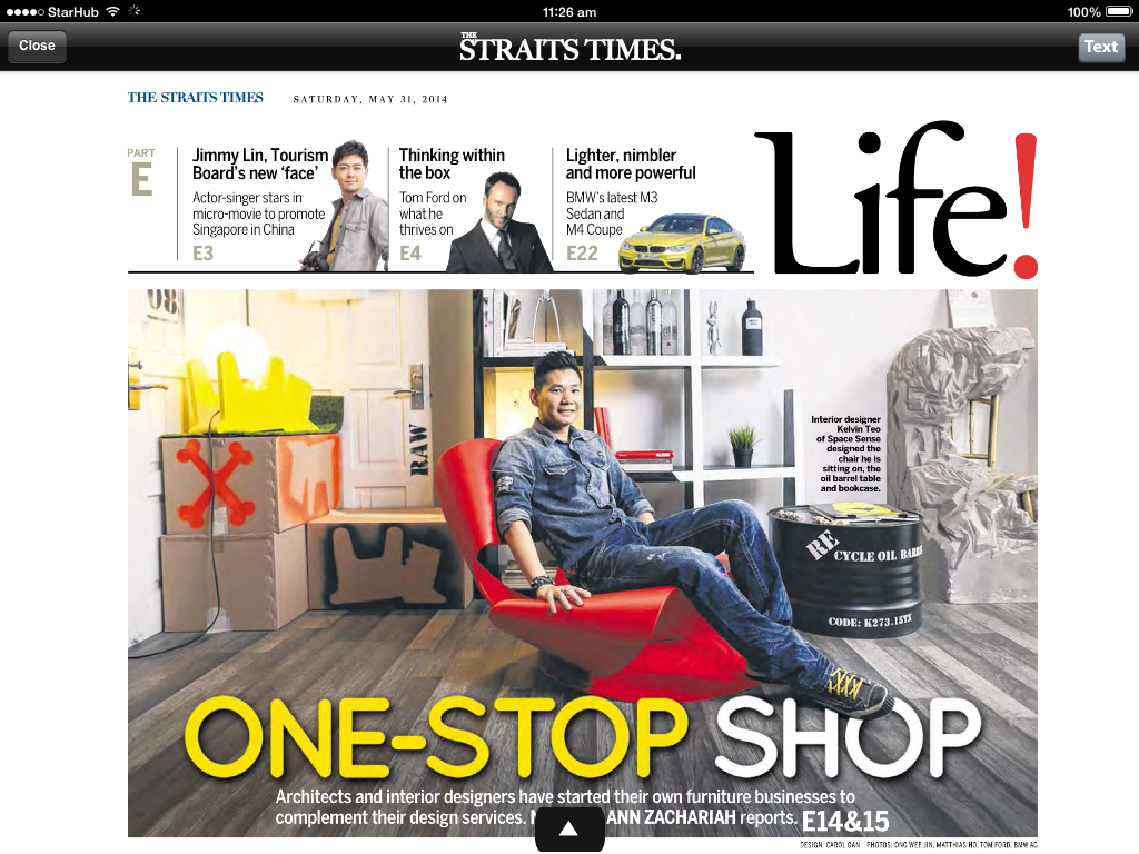 Kelvin Teo on Straits Time Life